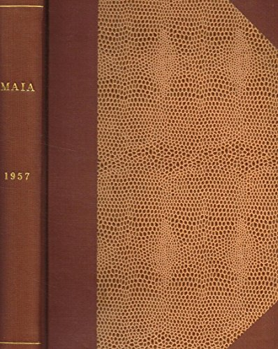 MAIA. RIVISTA DI LETTERATURE CLASSICHE N.S. ANNO IX.