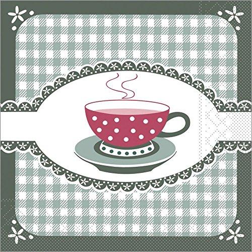 Sovie HORECA   Serviette Kathrin   Grün   3 lagiges Tissue 33 x 33 cm   Kaffee oder Geburtstag  100 Stück