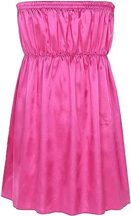 MSemis Men's Sissy Shiny Satin Strapless Crossdress Lingerie Underwear Pajamas Nightwear Babydoll