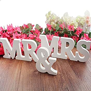 Oliadesign mr and mrs wooden letters wedding decorationpresent misslight mr mrs wooden letters wedding decoration present white size large mrmrs junglespirit Image collections