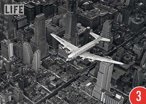 3er-Pack: Postkarte A6 +++ SCHWARZ-WEISS von modern times +++ FLIGHT OVER MANHATTAN 1939 +++ PAPER ROSE © BOURKE-WHITE, Margaret
