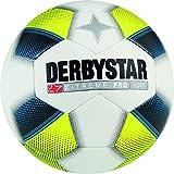 Derbystar Fußball X-Treme Pro Light, Kinder Trainingsball, Ball Größe 5 (350 g), weiß blau gelb, 1114