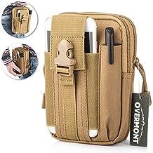 Overmont Bolsa de cintura táctica de Molle bolsa compacta multi-fucional del móvil monedero para camping escalada senderismo al aire libre negro/naranja/verde/caqui/camuflaje