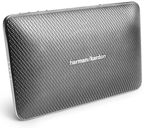 Harman/Kardon Esquire 2 Sistema Altoparlante Wireless/Bluetooth, Portatile, Ricaricabile, Sottile con Microfono Conferenza 360° Integrato, Grigio