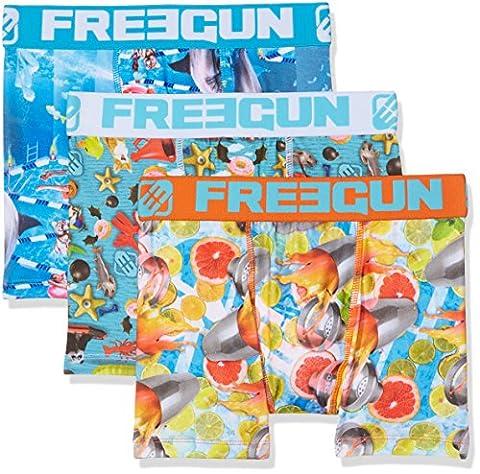 Freegun X3 A9 Boxer Lot de 3 Garçon , Multicolore (A-9), (Taille fabricant:6/8)