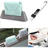 Didiz Combo of Window Groove Frame Cleaning Brush and Dust Cleaning Brush for Window Slot Keyboard with Mini Dustpan, Door Tr