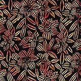 Fabric Freedom Bürste Schwarz Design 100% Baumwolle Bali Batik Tie Dye Muster Stoff für Patchwork, Quilten &,–(Preis Pro/Quarter Meter)