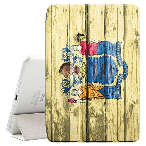 FJCases New Jersey The Garden State Holzmuster Flagge Smart Cover Tablet-Schutzhülle Hülle Tasche + Auto aufwachen/Schlaf Funktion für Apple iPad Mini 5