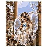 Aihometm Mal-Set 5D Diamant-Bild, nach Zahlen, kreatives Kristall-Malset Angel Girl