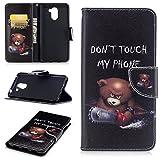 Huawei Y7 / Y7 Prime Hülle Leder, Lomogo Schutzhülle mit Muster Brieftasche mit Kartenfach Klappbar Magnetverschluss Stoßfest Kratzfest Handyhülle Case für Huawei Y7 / Y7 Prime - BIFE24307 #9
