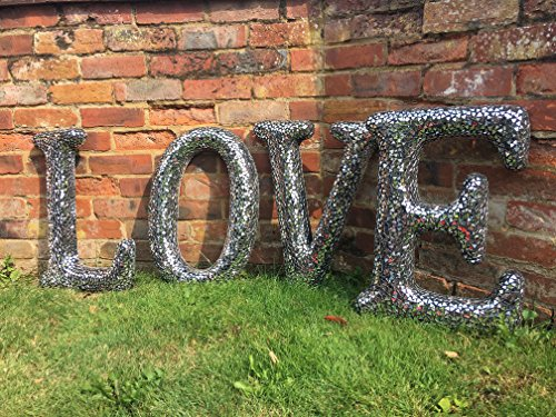 Mosaic Silver Mirrored LOVE Letters - Wilde Java
