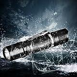 Superhelle Mini Taschenlampe, CREE LED Mini Taschenlampe IPX8 Wasserdicht Mini-Taschenlampe, 500 Lumen mit 5 Modus EDC Mini Handlampe LED Camping Handlampe Geeignet für AA oder 14500 Akku (Nicht Enthalten), TG06 Upgrade Version (TG06S) - 2