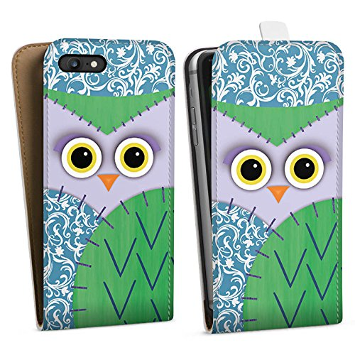 Apple iPhone X Silikon Hülle Case Schutzhülle Owl Eule Kinder Downflip Tasche weiß