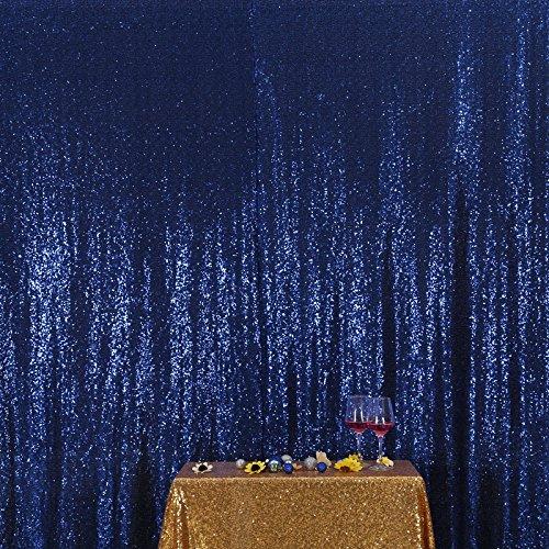 3E Home Navy blau Pailletten Hintergrund Stoff Vorhang Hochzeit, 4Ft X 6Ft (120 cm X 180 cm)