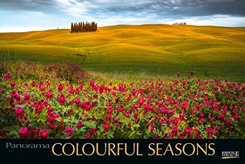 Colourful Seasons 214119 2019: Großer Foto-Wandkalender mit Bildern von Jahreszeiten in der Natur. Edler schwarzer Hintergrund und Foliendeckblatt. PhotoArt Panorama Querformat: 58x39 cm.