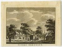 Description: Cette plaque scarse issues de: «vaderlandsche gezichten de afbeeldingen, behoorende tot den tegenwoordigen staat der Vereenigde nederlanden, dans la niche jaare 1786(tot 1792) naar 't Leven getekend porte J. bulthuis (plus tard: J. ...