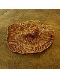 CFHJN Home Sombrero Grande Sombrero Sombrilla Sombrero de Playa Mujer  Verano Playa Marea Salvaje Gran Sombrero 5bce1c191d20