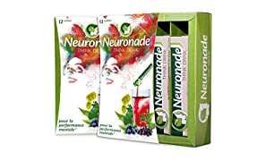 Neuronade ® - boisson en poudre pour la concentration & contre la fatigue | ginkgo biloba, brahmi (bacopa monnieri), rhodiola rosea, myrtille, thé vert, biotine, vitamine B12 & B5 | 100% végan