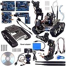 Kuman SM5-1 Wireless Wifi manipulator Robot Car Kit per Arduino, con rilevatori di ostacoli intelligenti a ultrasuoni e infrarossi HD Fotocamera Ds Robot Smart EducativoKits per IOS Android PC controlled