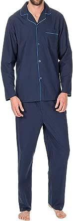Mens Insignia Plain Poly Cotton Pyjamas Set Traditional Classic Cut