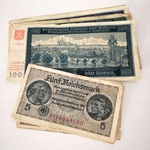 Billetes ANTIGUOS - 2 piezas utilizados en las Invasiones y territorio