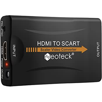 Neoteck HDMI to SCART Converter HDMI Input SCART Output Adapter Composite Video HD Stereo Audio Adapter for SKY HD Blu Ray DVD HDTV STB VHS Xbox PS3