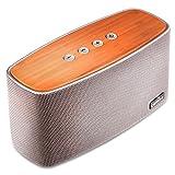 COMISO 30W Mobiler Bluetooth 4.1 Lautsprecher mit Dual 15W Treiber Wireless Bambus Speaker mit...