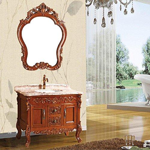 Modylee In stile europeo bagno in legno di ciliegio combinazione armadietti da bagno verde , 1000*600*850