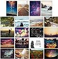 20er Postkarten Set mit 20 Sprüchen & Zitaten // UV-Hochglanzbeschichtung und 350g Bilderdruck für höchste Qualität // Ideal zum Aufhängen, Verschicken oder als Weihnachtsgeschenk