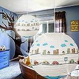 MIA Light Auto Papier Kugel Hänge Leuchte Ø400mm/ Kinder/ Blau/ Pendel Lampe Hängelampe Hängeleuchte Kinderlampe Kinderleuchte Kinderzimmer Kinderzimmerbeleuchtung Kinderzimmerlampe Kinderzimmerleuchte Papierkugel Papierlampe Papierleuchte Pendellampe Pendelleuchte