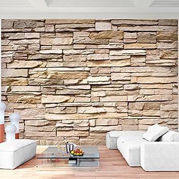 unglaublich fototapete steinmauer wohnzimmer - fototapete steinwand 3d effekt 352 x 250 cm vlies wand