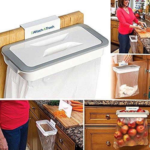 Supporto buste spazzatura gancio cassetti ante mobili sacchi sacchetti raccolta differenziata rifiuti riciclaggio cucina pattume attach-a-trash