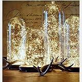 WLITTLE Lichterkette 20er/50er /100er LED Draht Micro Lichterkette Batteriebetrieb Deko für Weihnachten Bett Hochzeit Party Schlafzimmer