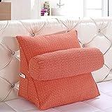 Super Groß Rückenkissen / Lordosenstütze / Lendenkissen / Keilkissen Mit 1 Zylinder Kiseen verbessert die Körperhaltung und verhindert untere Rückenschmerzen Schwangere Zuhause Bett Sofa Büro Verwendung (Orange)