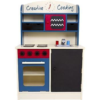 infantastic cucina giocattolo di legno 3 cassetti