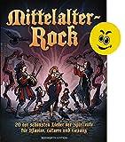Mittelalter-Rockbuch mit lustigem Smiley-Radiergummi in Größe eines mittelalterlichen Geldtalers