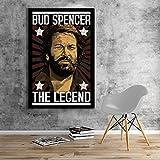 Bud Spencer - LEGEND - Leinwand (60x90cm)