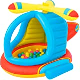 Bestway 52217   Up In & Over - Piscina Gonfiabile Elicottero con  50 Palline Colorate Incluse, 140x127x89 cm