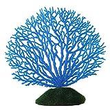 Fdit Künstliche Coral Ornament Streifen Korallen Pflanze Ornament Glowing Effect Silikon Künstliche Dekoration für Aquarium Aquarium Landschaft(blau)