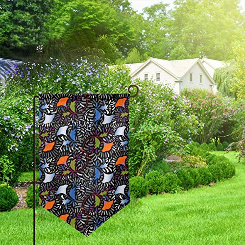 IconSymbol Garden Outdoor Flag Banner African Flower Tapestry Decorative Weather Resistant Double Stitched 18x12.5 Inch - Tapestry Garden Flags