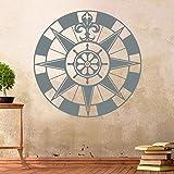 Kompass X Windrose Aufkleber Wandtattoo Wandaufkleber Sticker (Grau, 40 x 40 cm)