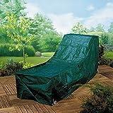 XL Möbelschutzhülle für Sunlounger Sonnenliegen Schutzhülle Gartenmöbel für für Sonnenliege Sunlounger - aus strapazierfähigem reißfestem maschinenwaschbarem 130 gsm Polyester - mit Metallösen und Nylonkordel
