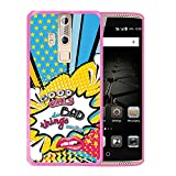WoowCase ZTE Axon Elite Hülle, Handyhülle Silikon für [ ZTE Axon Elite ] Kosmischer Lippensatz - Good Girls do Bad Things Sometimes Handytasche Handy Cover Case Schutzhülle Flexible TPU - Rosa