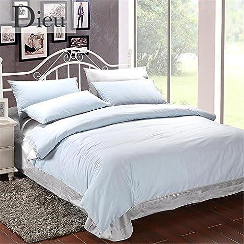 GAW Hogar Moda 100% algodón de 3 piezas de ropa de cama, edredón cubrir conjunto completo/Reina,Funda nórdica(150cm x 210cm*1),Hoja(200cm x 240cm*1),Funda de almohada(48*74cm*1)