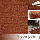 floor factory Tappeto Moderno Naturale Juta rosso 160x230cm - tappeto tessuto a mano di 100% fibra naturale