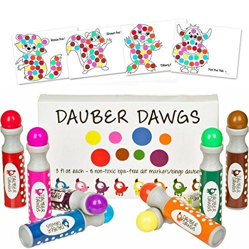 Cameron Frank Products Waschbare Dot Marker Bingo Daubers dabbers Dauber Dawgs Kinder Kleinkinder Vorschule Kinder Art Supply 3 Pdf Coloring Ebooks = 100 Aktivitätsblätter zu tun!