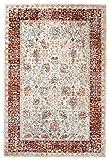 Carpeto Orientalisch Teppich Vintage 160 x 220 cm Rot Creme