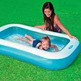 Skky Bell Inflatable Rectangular Pool, Multi Color (BIG SIZE)