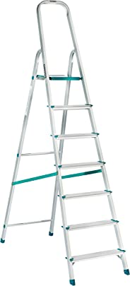 Amazon Brand – Solimo 7-Step Foldable Aluminum Ladder, rust proof and certified by European Standard EN 131