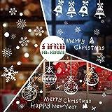 Hommie Stickers Noël Vitrine Autocollants pour Fenêtre/Magasin Decoration de Noël/Fête Amovibles Santa Claus Statiques en PVC, 3 Types de modèles différents...